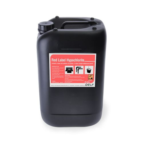 HYPOCHLORITE SOLUTION RED LABEL 25ltr